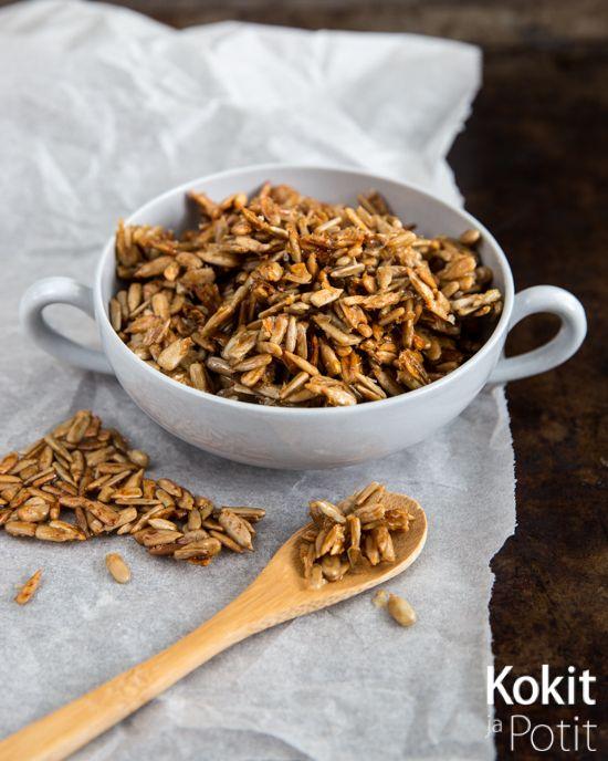 Honey Roasted Sunflower Seeds – Hunajapaahdetut auringonkukansiemenet #seeds #roasted #breakfast #snack