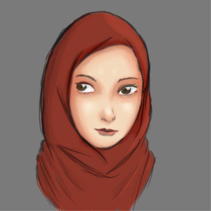 Painting #hijab