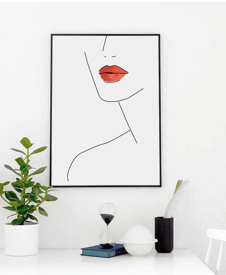 Wandkunst Poster – Frauen Gesicht drucken – Frau Gesicht – Schlafzimmer Dekor – Inneneinrichtungen – druckbare Kunst – Gesicht