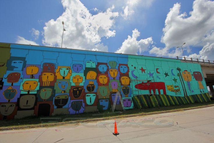 Mural colectivo en la Sarmiento - EsChaco.com - Resistencia - Chaco