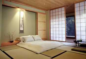 Japanese bedroom. This isn't about the lack of bed (we will need a bed) but loving the matting vibe