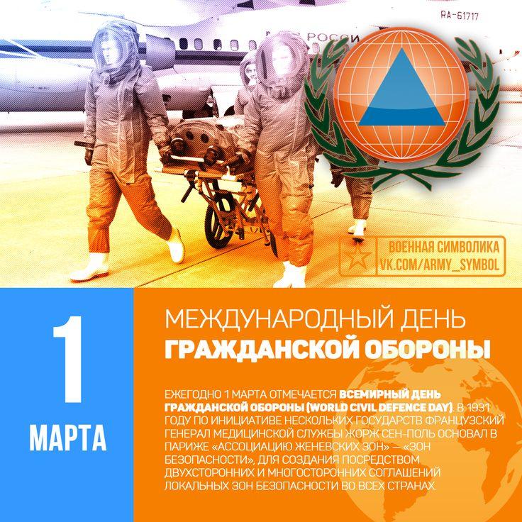Открытка с всемирным днем гражданской обороны, первым января