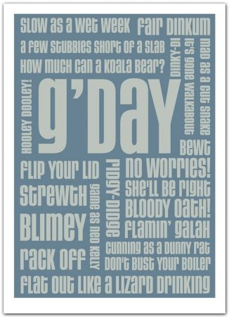 Gday Text Print - hardtofind.