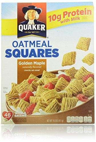 Quaker Cereal Oatmeal Squares, Golden Maple, 14.5 Ounce - http://sleepychef.com/quaker-cereal-oatmeal-squares-golden-maple-14-5-ounce/