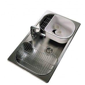 Johnson Pileta de Cocina bacha Luxor SI85STA Satinada 85x48x21 cm acero 304
