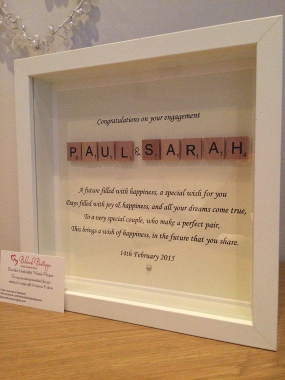 Personalised Wedding / Engagement frame by MyBelovedBoutique