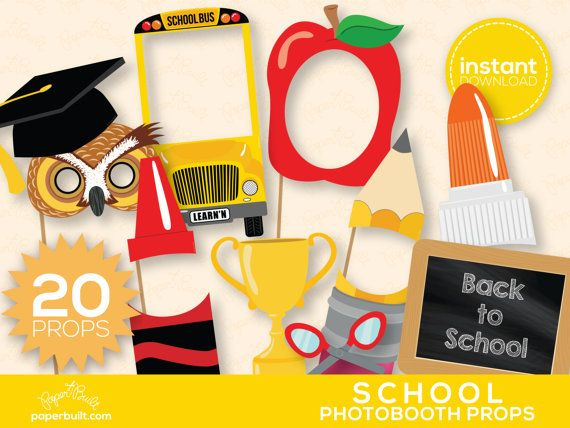 Back to School - ON SALE  Photo Booth Props, Photobooth Props, Back to School, Teacher, Teacher Appreciation, School Party - 20 Photo Props