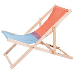 Weltevree Outlet Beach Chair Stuhl Rot Blau Gartenstuhle