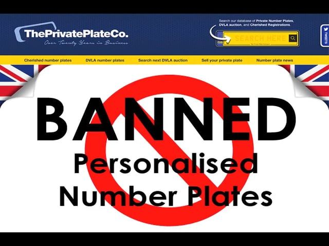https://www.theprivateplateco.co.uk/ have listed just some of the personalised number plates that are currently banned in the UK - What are your views on some of these plates shown here? Do you think they're over reacting with some of them? Can you think of any offensive number plates to add to the list