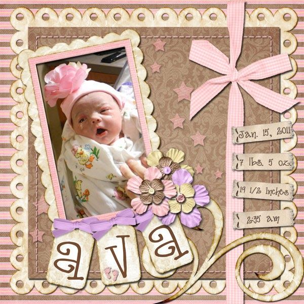 One of my goals this year is to make a scrapbook page for each of the grandchildren for each month of the year. Here are the pages for Janu...