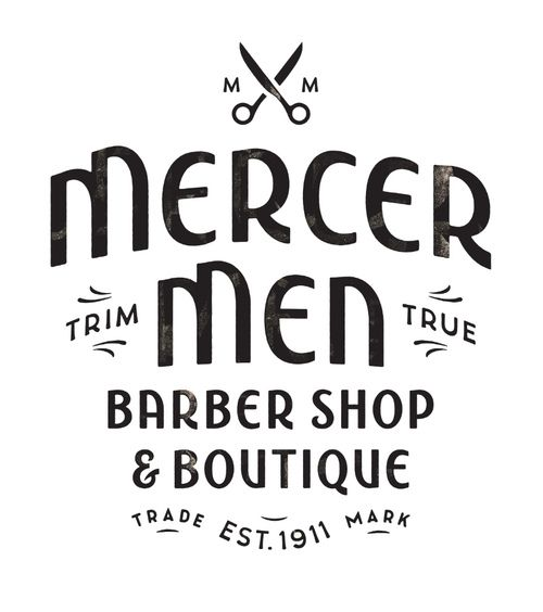 """Mercer Men"" : lettering handcrafted by Simon Walker for a barber shop logo somewhere in Canada. Don't forget to check Simon's portfolio cause it's hot. Pssst ! He's also on Dribbble."