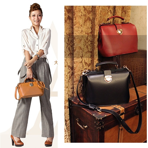 $33 European and American Style PU Leather Shoulder Doctor Bag Handbag Purse FZXB074 | eBay