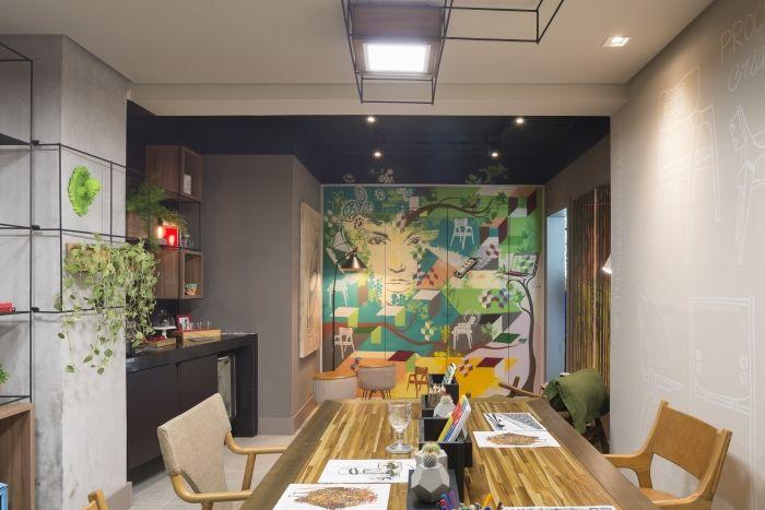 Projeto Studio de Design, dos arquitetos Márcio Moreira e Magali Montani, e da designer de interiores Ana Paula Weber. Foto: Inês Antich