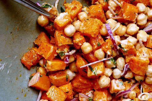 butternut chickpea tahini salad