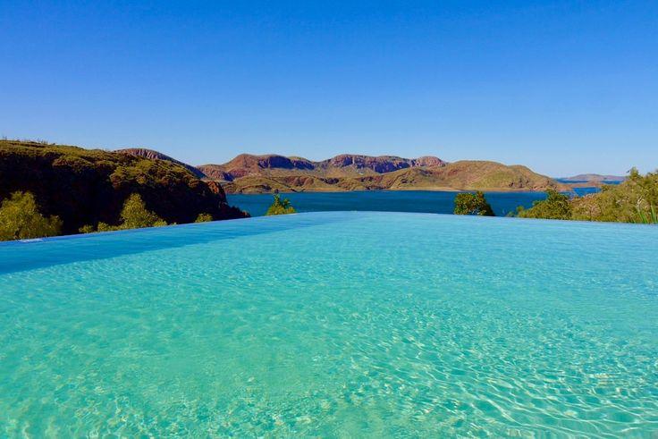 Lake Argyle Resort & Caravan Park - Faszinierender Ausblick vom Infinity Pool - Kimberley - Western Australia