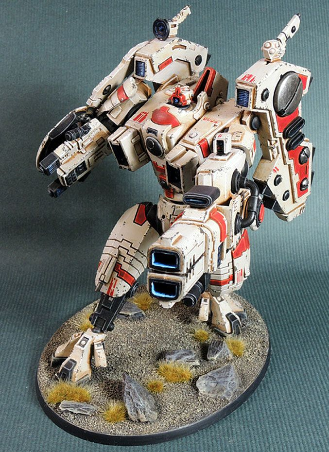 40k - Tau Riptide #Battlesuit by #YeongKeunKim  #Monsterman is killing it w/ the futuristic stuff. Keep it coming please.