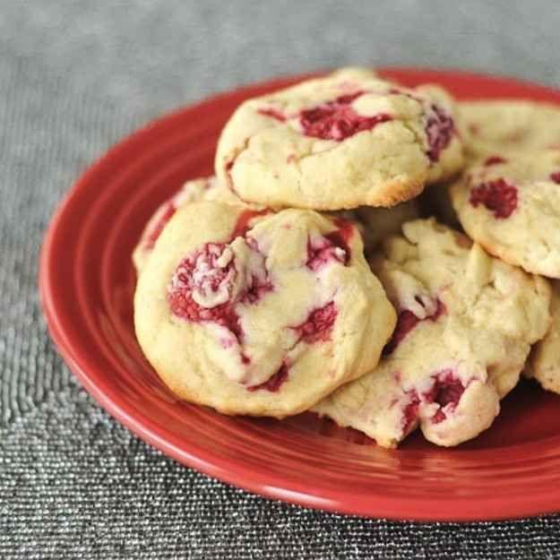 Gluten-Free Raspberry Lemon Cheesecake Cookies