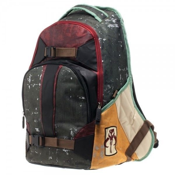 Star Wars Boba Fett Backpack with Mandalorians Icon patch - New #StarWars #Backpack