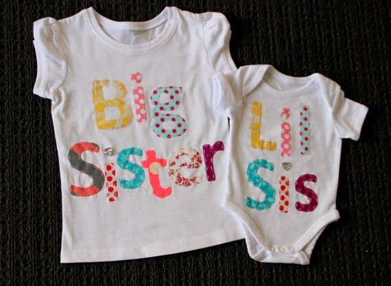 Big sister little Bro tops / onsies. matching by BellesBowsTas29