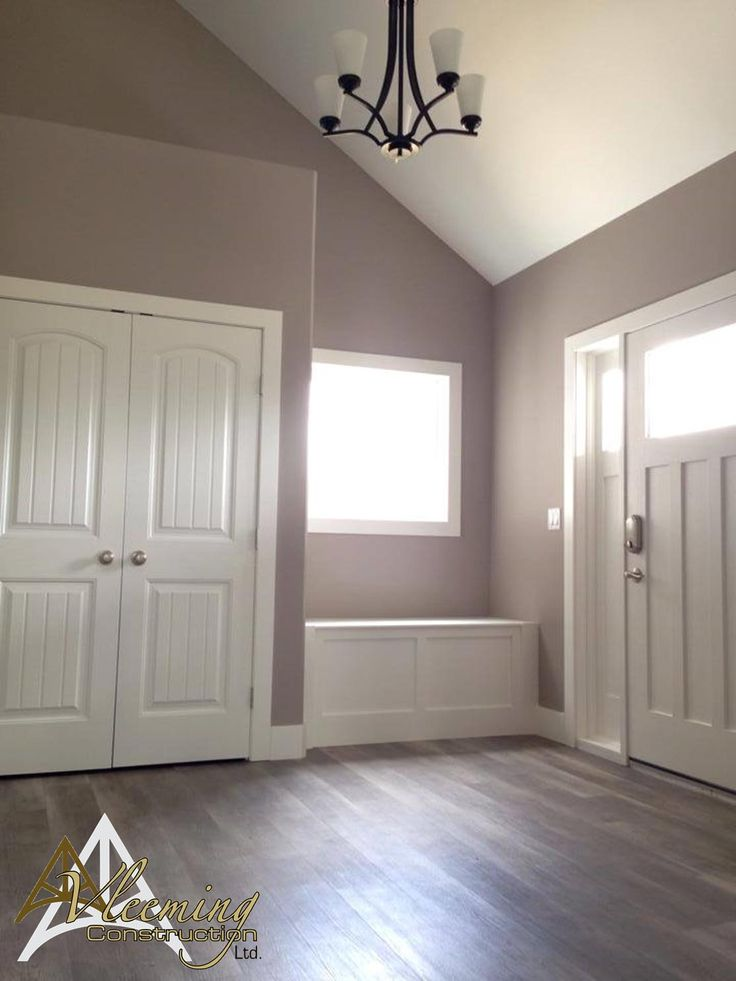 Wall Colors To Make Small Bathroom Look Larger: Welcoming Foyer. Wall Color: Benjamin Moore's Upper West