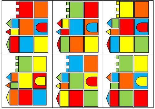 Le tout petit roi - Positionnement dans l'espace avec les couleurs et les formes