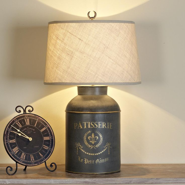 French Canister Table Lamp I Would Love This On A