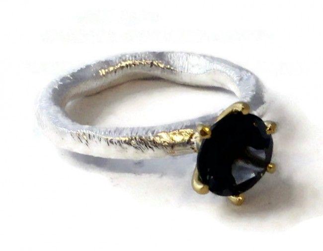 Chloe London Blue Topaz  Ring (silver/vermeil)