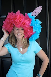 """Tissue Paper Hats (originally """"Royal Wedding Hat Craft"""") This would be a cute craft fro a tea party"""