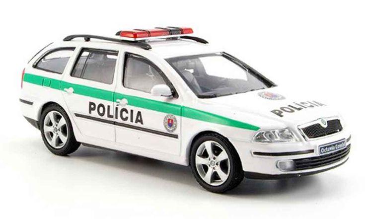 Skoda Octavia combi slowakische police 2004 Abrex. Skoda Octavia combi slowakische police 2004 Police miniature 1/43