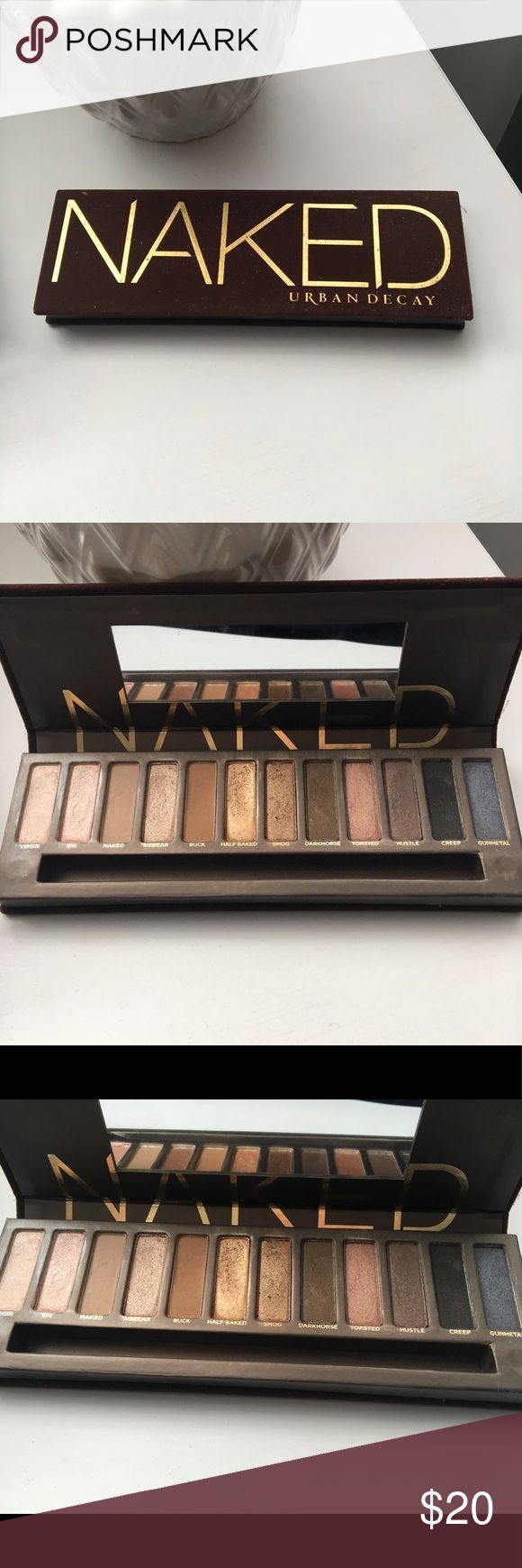Urban Decay Naked Palette Barely used Naked Palette -does not include brush, clean mirror, all eyeshadows intact Urban Decay Makeup Eyeshadow