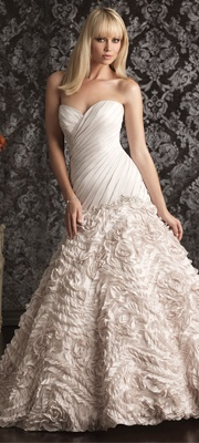 2013 Allure Bridal - Pearl & Silver Taffeta Wedding Gown