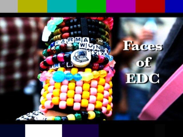 """""""Faces of EDC"""" (Electric Daisy Carnival 2010) by Tony Toka."""