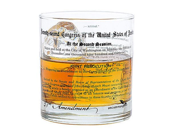 Prohibition 21st Amendment Rocks Glass by theUncommonGreen on Etsy https://www.etsy.com/listing/494363507/prohibition-21st-amendment-rocks-glass