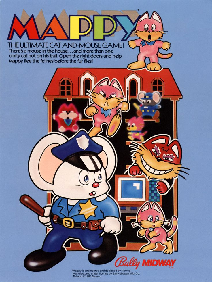 Mappy, found on Namco Museum 50th Anniversary on PS2 *Combines my love of cute mice, gaming and law enforcement :) *