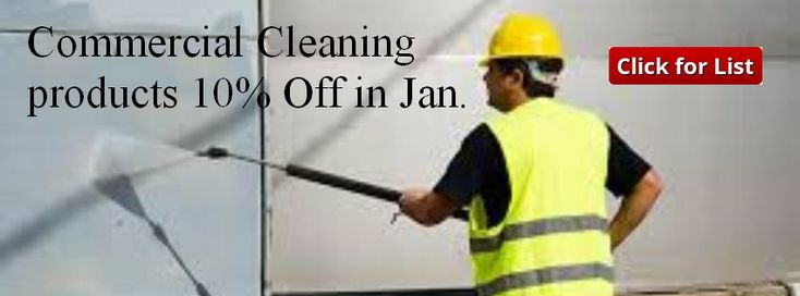 Jan 2018 Offer 10% off certain Commercial Cleaners follow link to see list with pricing.