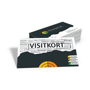 Visitkort Offsettryk produceres i formaterne 85x54 eller 90x55 mm. og trykkes på 300 gr. Coated papir, offset er det billigste valg, når du skal have mange (over 2000) af samme design/motiv.