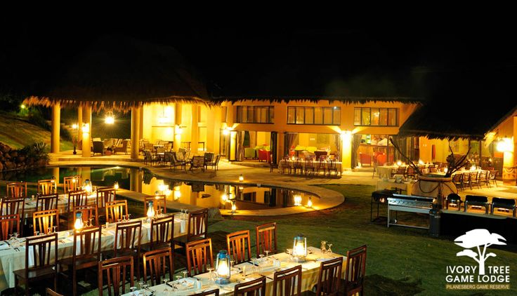 Ivory Tree Game Lodge - Pool side Dinner ~ www.ivorytreegamelodge.com