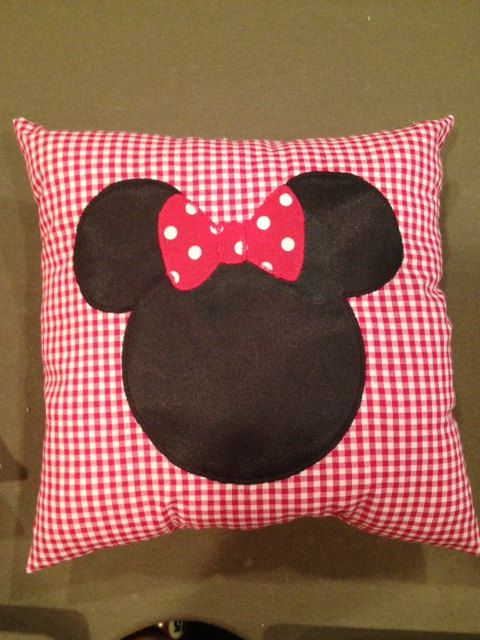 Red Gingham Decorative Minnie Pillow