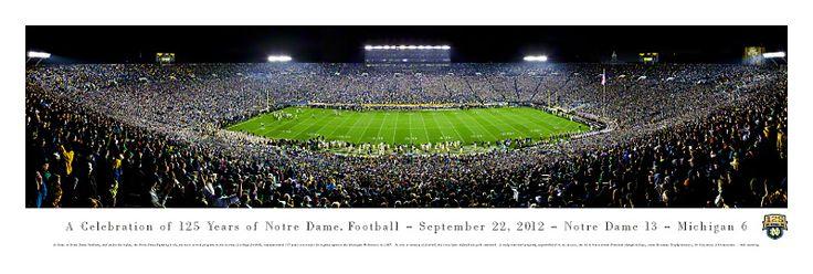 University of Notre Dame Panoramic - 125 Year Anniversary $29.95