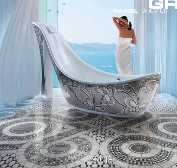 16 best furdoszoba images on pinterest bathroom ideas for Mosaic bathroom bin