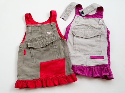 Upcycle an old pair of Cargo Pants into an adorable Toddler Dress! This is a great DIY you'll love to try.