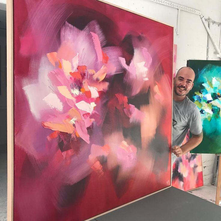 """631 Likes, 18 Comments - Catherine Hiller (@catherinehiller_art) on Instagram: """"'Amour' Oil on linen - 143x143cm is now available at @gallerysorrento on the Mornington Peninsula """""""