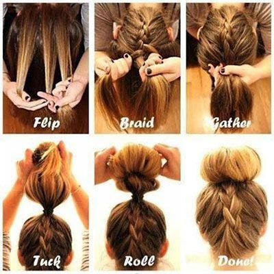 Outstanding 1000 Ideas About Braided Sock Buns On Pinterest Sock Buns Sock Hairstyles For Women Draintrainus
