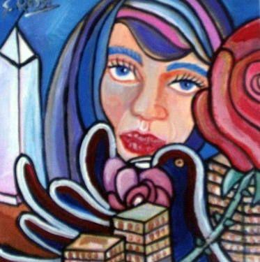 "Saatchi Art Artist Sandra Viviana Rossi; Painting, ""Pétalos de rosas Tudor en Buenos Aires."" #art"