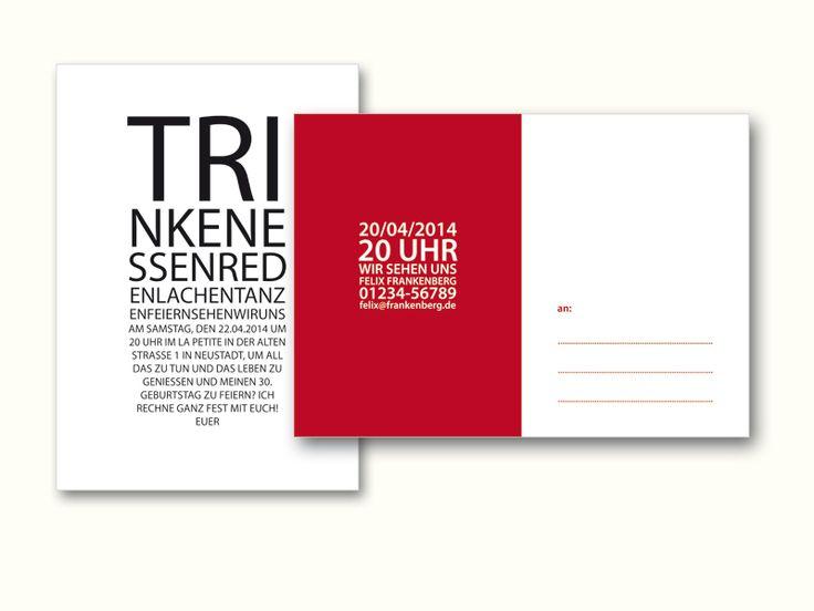+Besondere Karte In Edlem Design Für Besondere Gäste: Diese Einladung Fällt  Garantiert Auf!