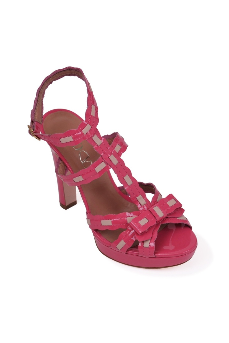 Red Valentino-two-tone sandals