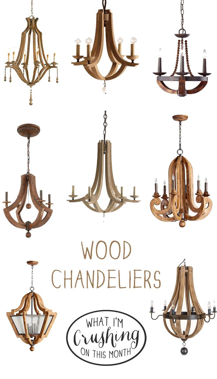 wood chandeliers