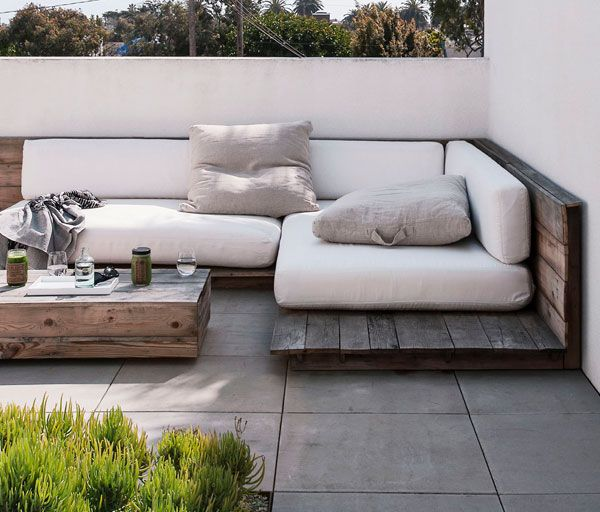 Apartment 34 | Designer Files: outside patio with pallets