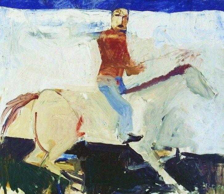 "urgetocreate: "" Richard Diebenkorn, Untitled (Horse and Rider), 1954, oil on canvas """