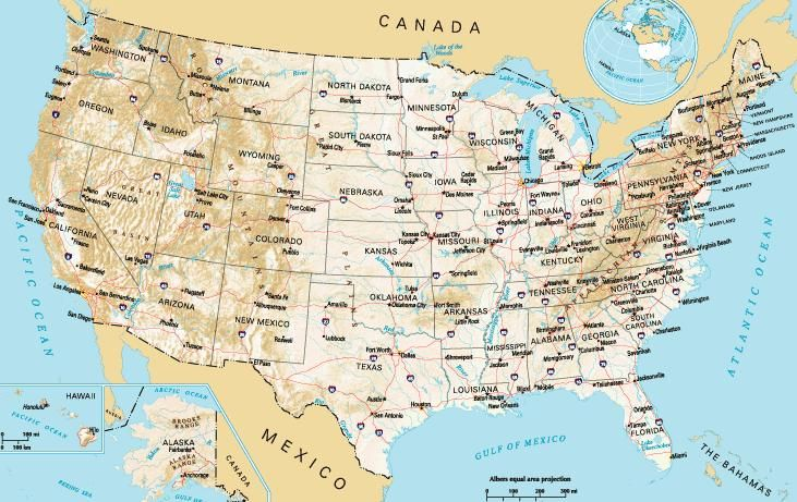 Usa Travel Map – Travel Maps Of Usa